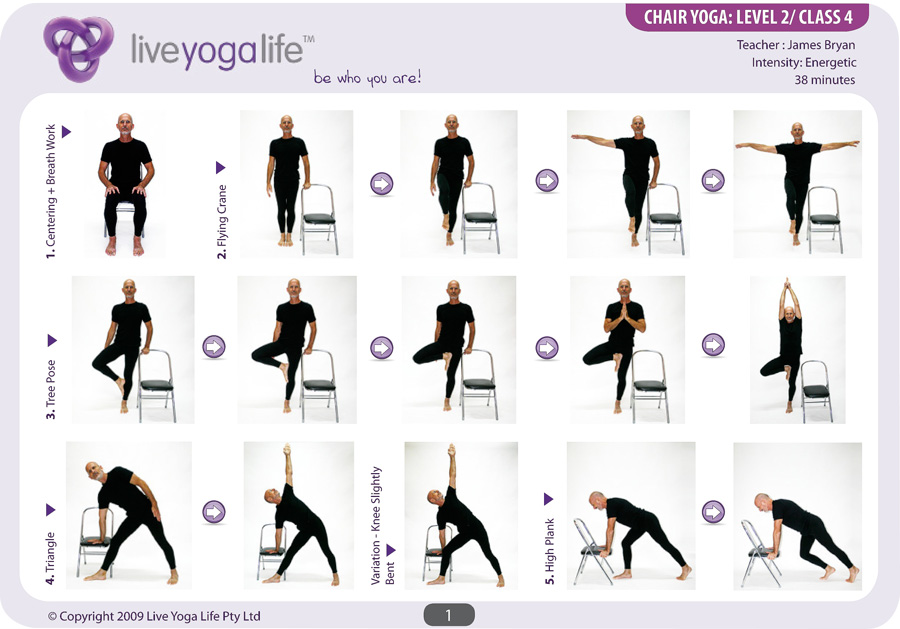 Yoga with a Chair Complete Set (Classes 1 to 7) | Live ...