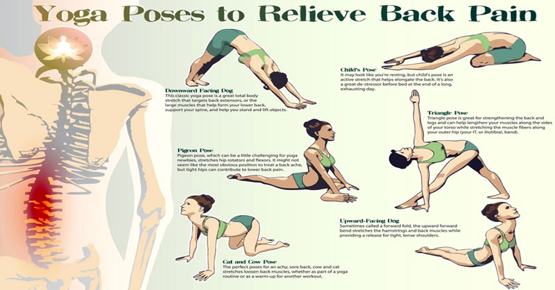 Top 8 Yoga Poses You Can Do In 8 Minutes To Relieve Back ...