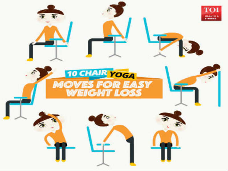 10 chair yoga moves for easy weight loss - Times of India