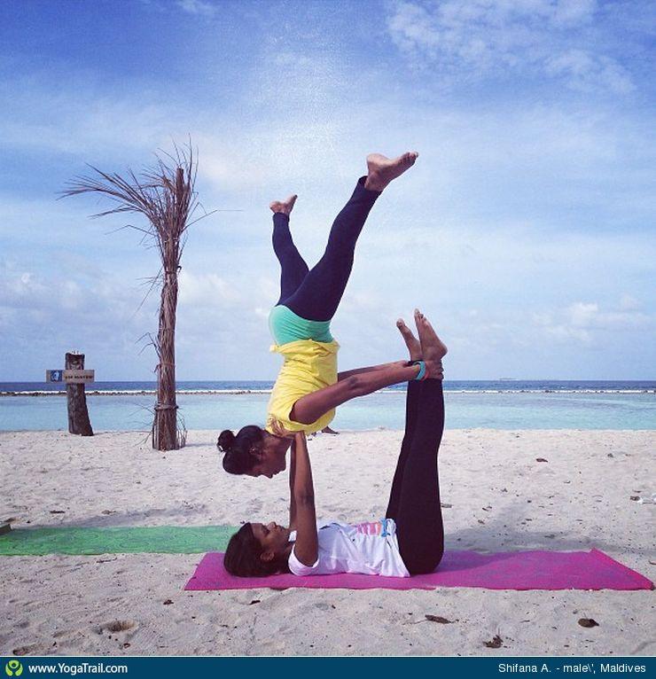 Acro/Partner Yoga - Pose / Asana Image by ShifanaMufeed