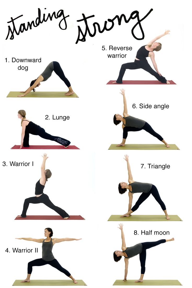 Flow Sequence of Classic Standing Poses | Standing yoga ...